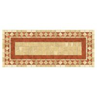 The Softer Side by Weather Guard™ 25-Inch x 60-Inch Red Tile Mosaic Kitchen Mat