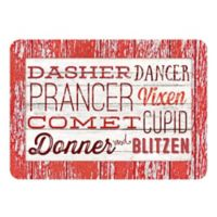 The Softer Side by Weather Guard™ 18-Inch x 27-Inch Reindeer Names Kitchen Mat