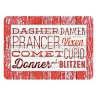 The Softer Side by Weather Guard™ 23-Inch x 26-Inch Reindeer Names Kitchen Mat