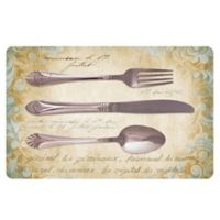 The Softer Side by Weather Guard™ 18-Inch x 27-Inch Royal Silverware Kitchen Mat