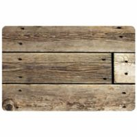 The Softer Side by Weather Guard™ 23-Inch x 36-Inch Rustic Wood Kitchen Mat