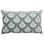 Callisto Home Velvet Arches Oblong Throw Pillow in Aqua