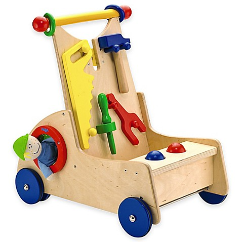 Haba Toys Walk Along Tool Cart Buybuy Baby