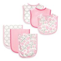 BabyVision® Hudson Baby® 6-Piece Flower Bib and Burp Cloth Set