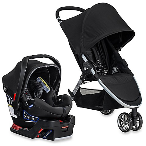 Britax B Agile B Safe  Elite Travel System Stroller Domino