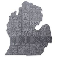 Top Shelf Living Michigan Etched Slate Cheese Board