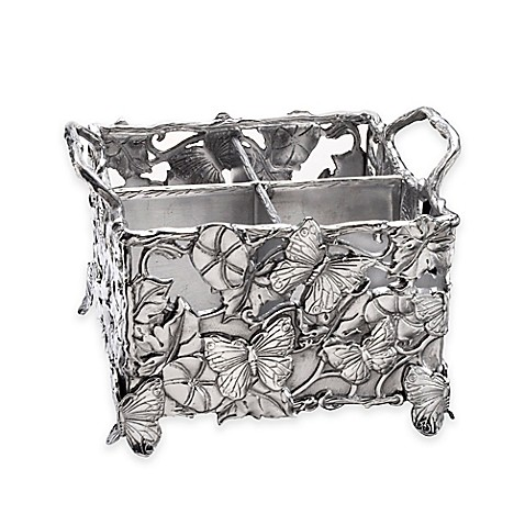 Arthur Court Designs Butterfly Flatware Caddy Bed Bath