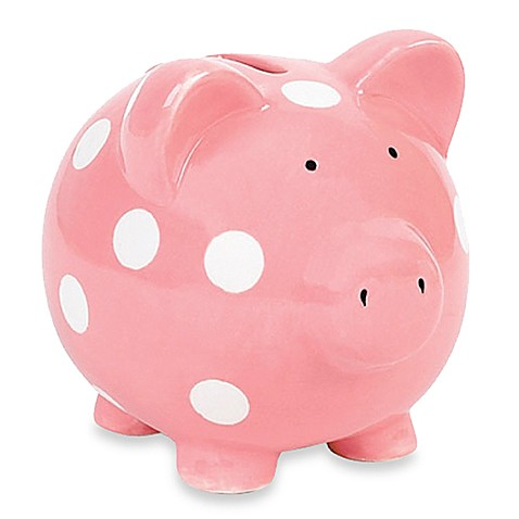 Pink mini piggy bank by elegant baby bed bath beyond for Mini piggy banks