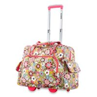 Olympia® 17-Inch Deluxe Fashion Rolling Overnighter in Tulip
