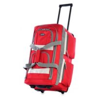 Olympia® 22-Inch 8-Pocket Rolling Duffle in Red