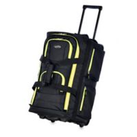 Olympia® 22-Inch 8-Pocket Rolling Duffle in Black/Yellow