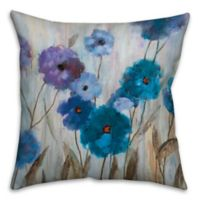 Painterly Florals 18-Inch Square Throw Pillow