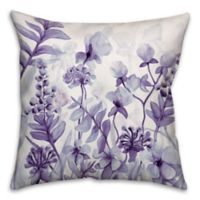 Flower Dream 18-Inch Square Throw Pillow in Purple