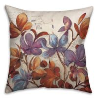 Soothing Floral Bouquet 18-Inch Square Throw Pillow