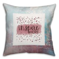 """""""Inspire Hope"""" 16-Inch Square Throw Pillow in Red/Blue"""