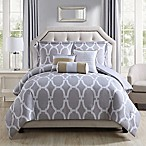 Ariane 6-Piece Queen Comforter Set in Grey