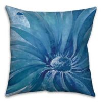 Close Up 18-Inch Square Throw Pillow in Blue