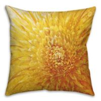 Close Up 18-Inch Square Throw Pillow in Yellow