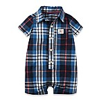 carter's® size 3M Plaid Short Sleeve Shortalls