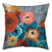 Party Flowers 16-Inch Square Throw Pillow