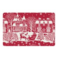 The Softer Side by Weather Guard™ 18-Inch x 27-Inch Scenic Santa Sleigh Kitchen Mat in Red/White