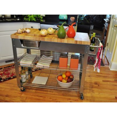 Product Image For Chris U0026 Chris Stadium 38 Inch Rolling Kitchen Work  Station 4 Out