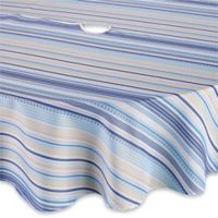 Sam Hedaya Monaco Stripe 70-Inch Round Umbrella Tablecloth