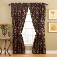 Waverly® Felicite 84-Inch Rod Pocket Window Curtain Panel in Noir