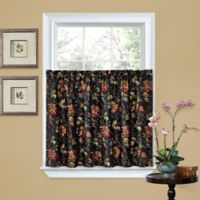 Waverly® Felicite 36-Inch Window Curtain Tier Pair in Noir