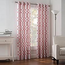 Newport Wave Light Filtering Grommet Top Window Curtain
