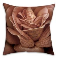 Corinthians Rose 16-Inch Square Throw Pillow in Pink/Black