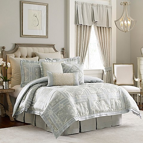 croscill couture rowling reversible comforter set bed