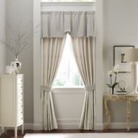 Croscill Couture® Rowling 84-Inch Back Tab Lined Window Curtain Panel Pair in Ivory
