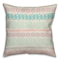 Bright Tribal 18-Inch Square Throw Pillow in Coral Red