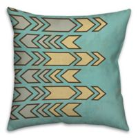 Geometric Contrast 16-Inch Square Throw Pillow in Blue/Yellow