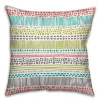 Bright Tribal 16-Inch Square Throw Pillow in Green