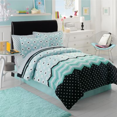 Buy Black And White Comforter Sets Twin From Bed Bath Beyond - Black and teal comforter sets
