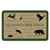 The Softer Side by Weather Guard™ 18-Inch x 27-Inch Seasons Greetings Animals Kitchen Mat