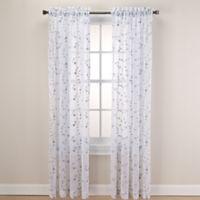 Caspia 84-Inch Rod Pocket Sheer Window Curtain Panel in Mint