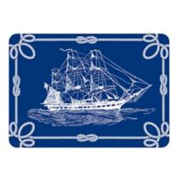 The Softer Side by Weather Guard™ 23-Inch x 36-Inch Nautical Ship Kitchen Mat in Navy/White
