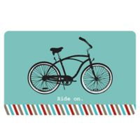 The Softer Side by Weather Guard™ 18-Inch x 27-Inch Retro Bicycle Kitchen Mat
