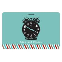 The Softer Side by Weather Guard™ 23-Inch x 36-Inch Retro Clock Kitchen Mat