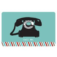 The Softer Side by Weather Guard™ 23-Inch x 36-Inch Retro Telephone Kitchen Mat