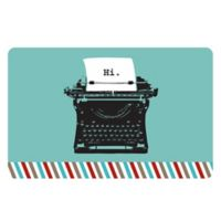 The Softer Side by Weather Guard™ 18-Inch x 27-Inch Retro Typewriter Kitchen Mat