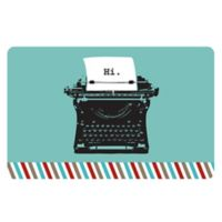 The Softer Side by Weather Guard™ 23-Inch x 36-Inch Retro Typewriter Kitchen Mat