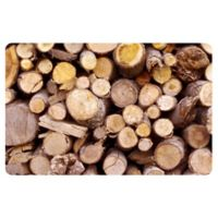 The Softer Side by Weather Guard™ 23-Inch x 36-Inch Stacked Logs Kitchen Mat