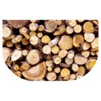 The Softer Side by Weather Guard™ 24-inch x 40-Inch Stacked Logs Kitchen Mat