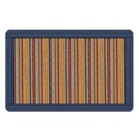 The Softer Side by Weather Guard™ 18-Inch x 27-Inch Blue Straw Mat Kitchen Mat