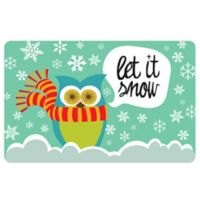 The Softer Side by Weather Guard™ 18-Inch x 27-Inch Let It Snow Owls Kitchen Mat
