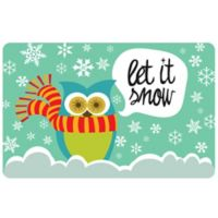 The Softer Side by Weather Guard™23-Inch x 36-Inch Let It Snow Owls Kitchen Mat